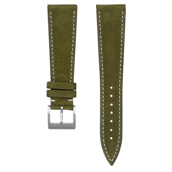 Monochrome Watches Shop | Nubuck Watch Strap - Green