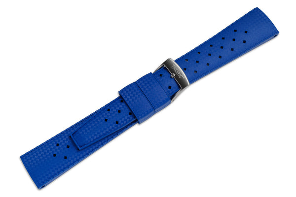 Monochrome Watches Shop | Tropic Rubber Watch Strap Aqua Blue