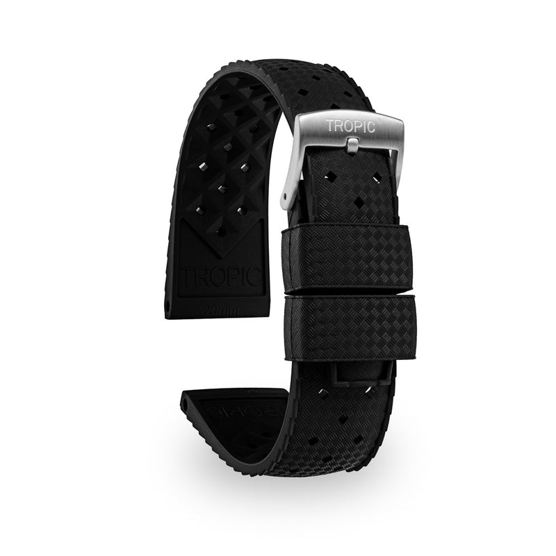 Monochrome Watches Shop | Tropic Rubber Watch Strap Black