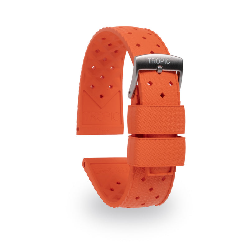 Monochrome Watches Shop | Tropic Rubber Watch Strap Orange