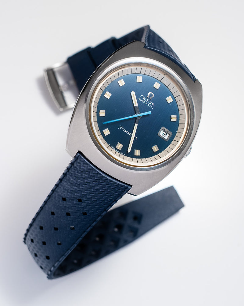 Monochrome Watches Shop | Tropic Rubber Watch Strap Navy Blue