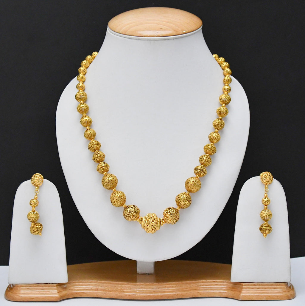 indian boll necklace