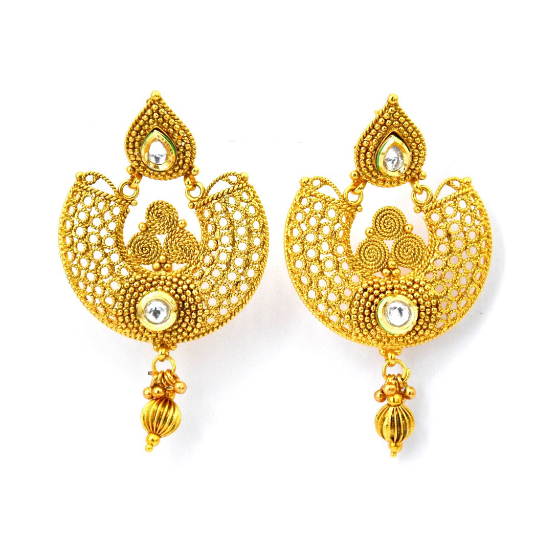 traditional products antiquegold by golden jewellery punjabi earrings