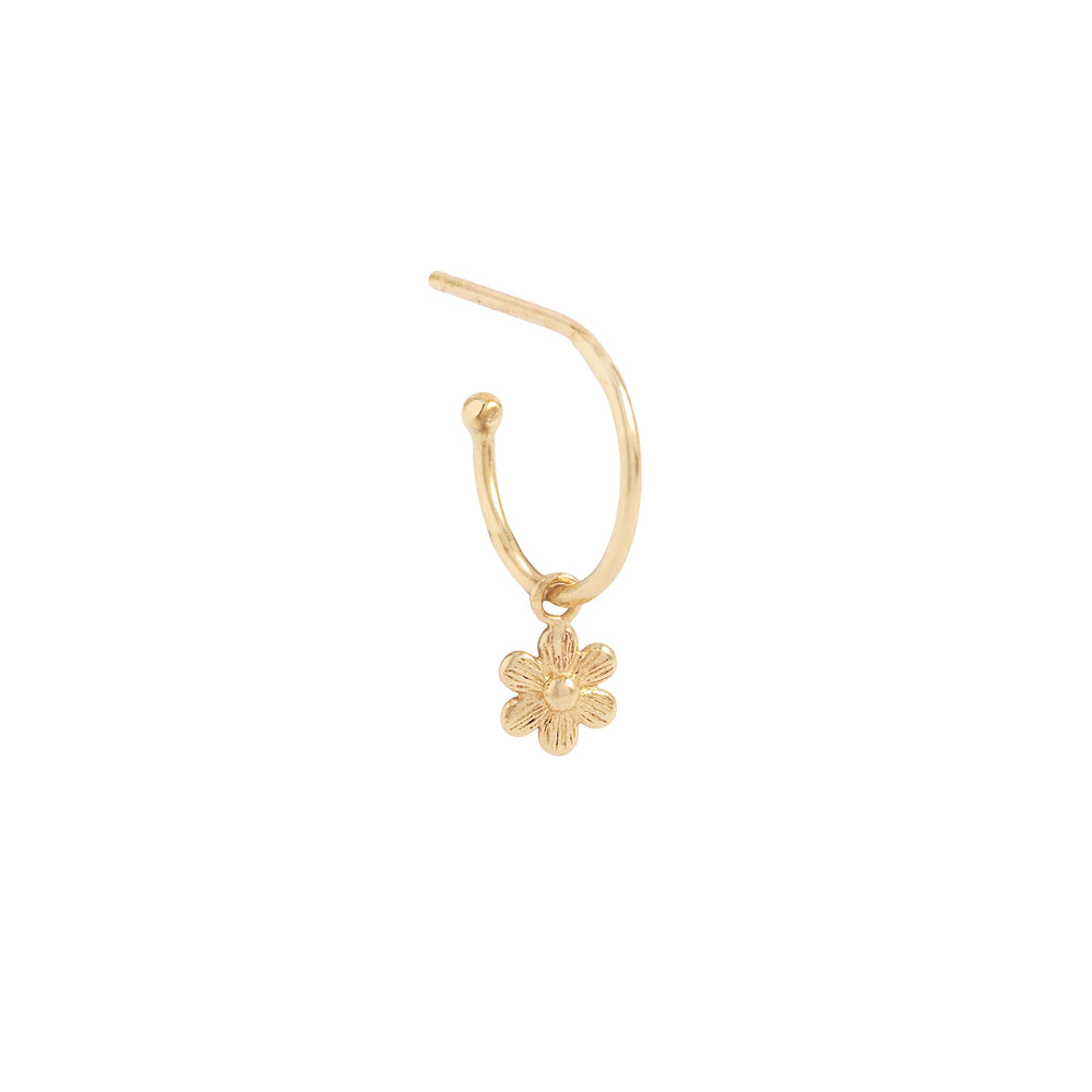 14KT Gold Blossom Hoops - The Spirit of Boho