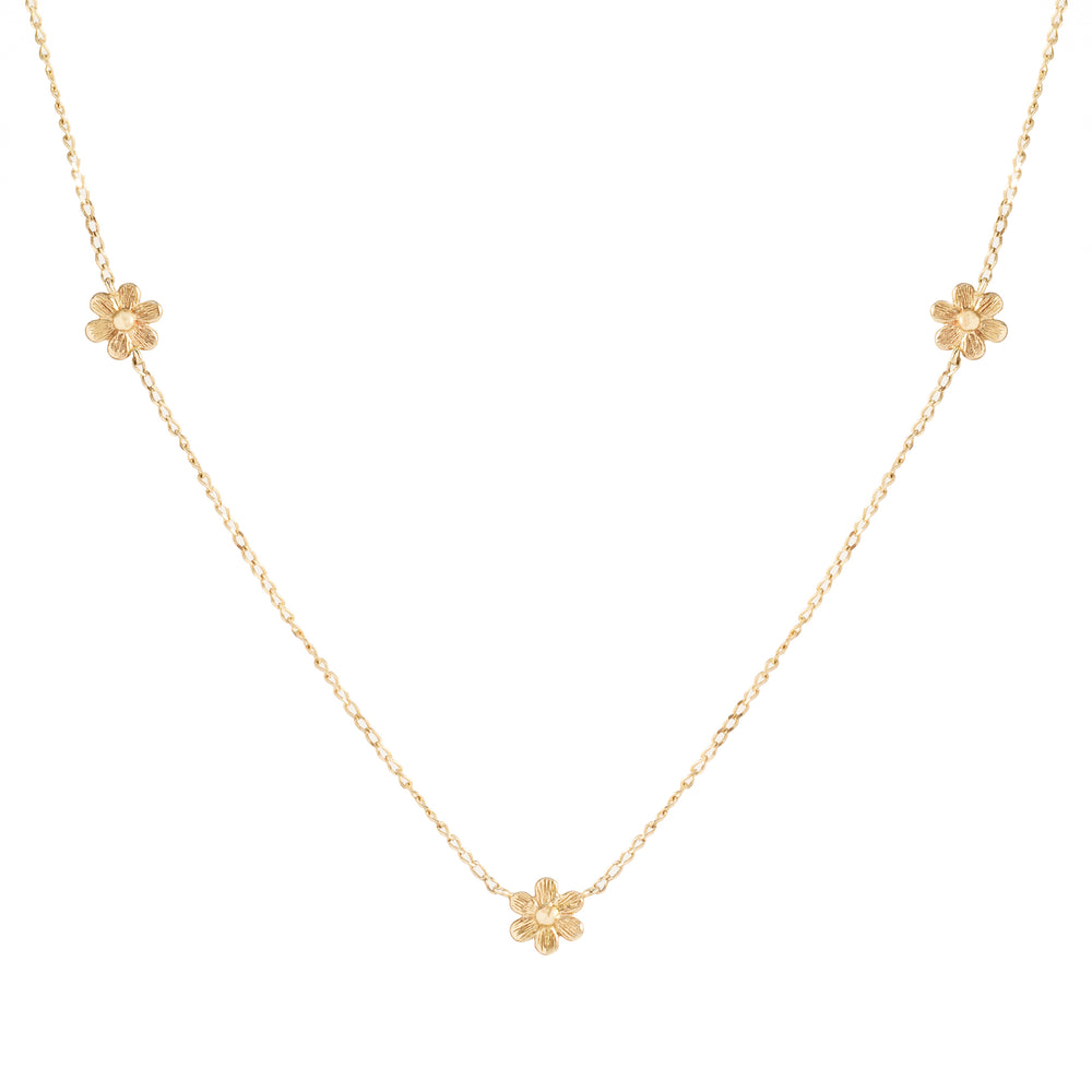 14KT Blushing Blossoms Necklace - The Spirit of Boho