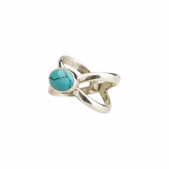 Crossing Paths Turquoise Ring