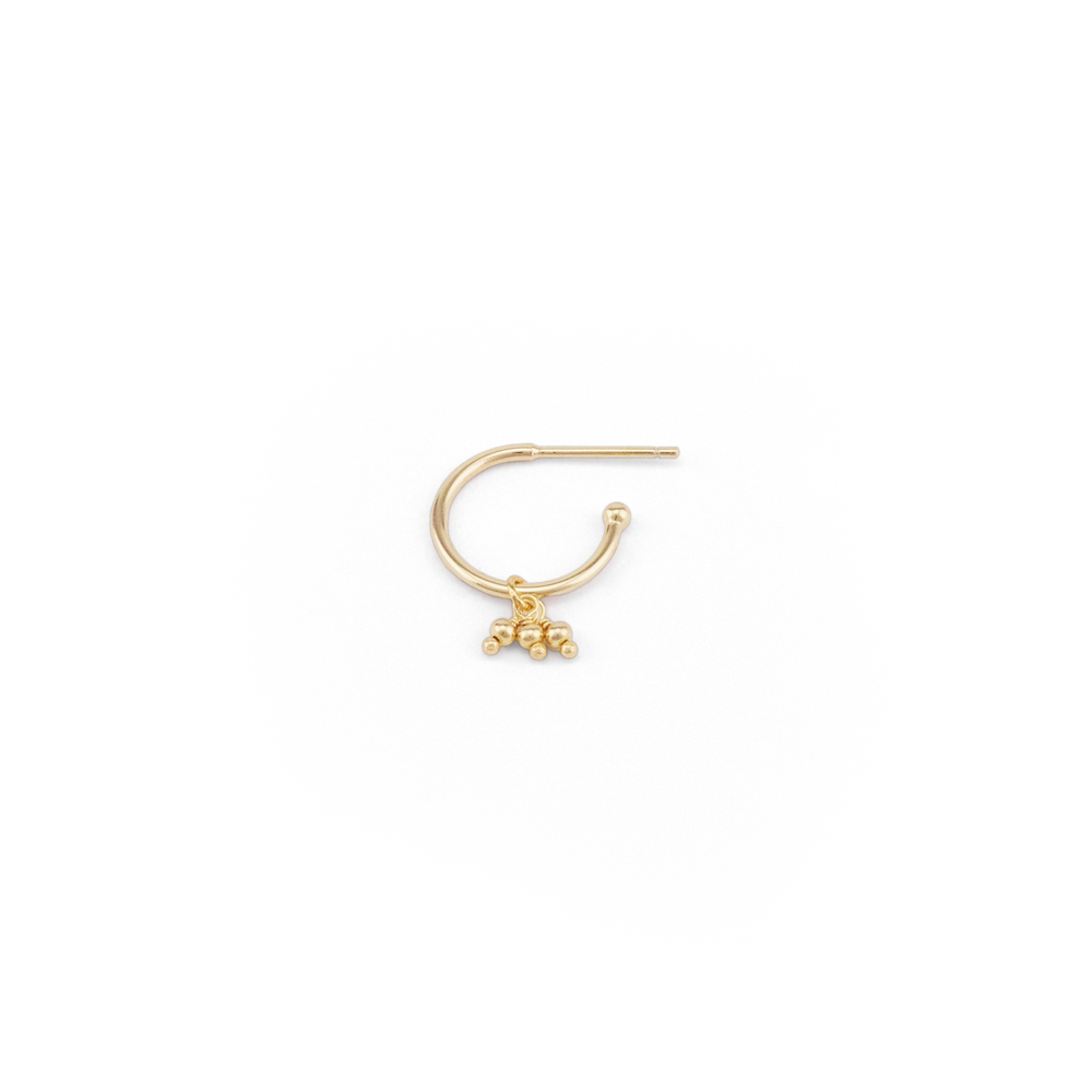 Gold Blessing Hoop Earrings