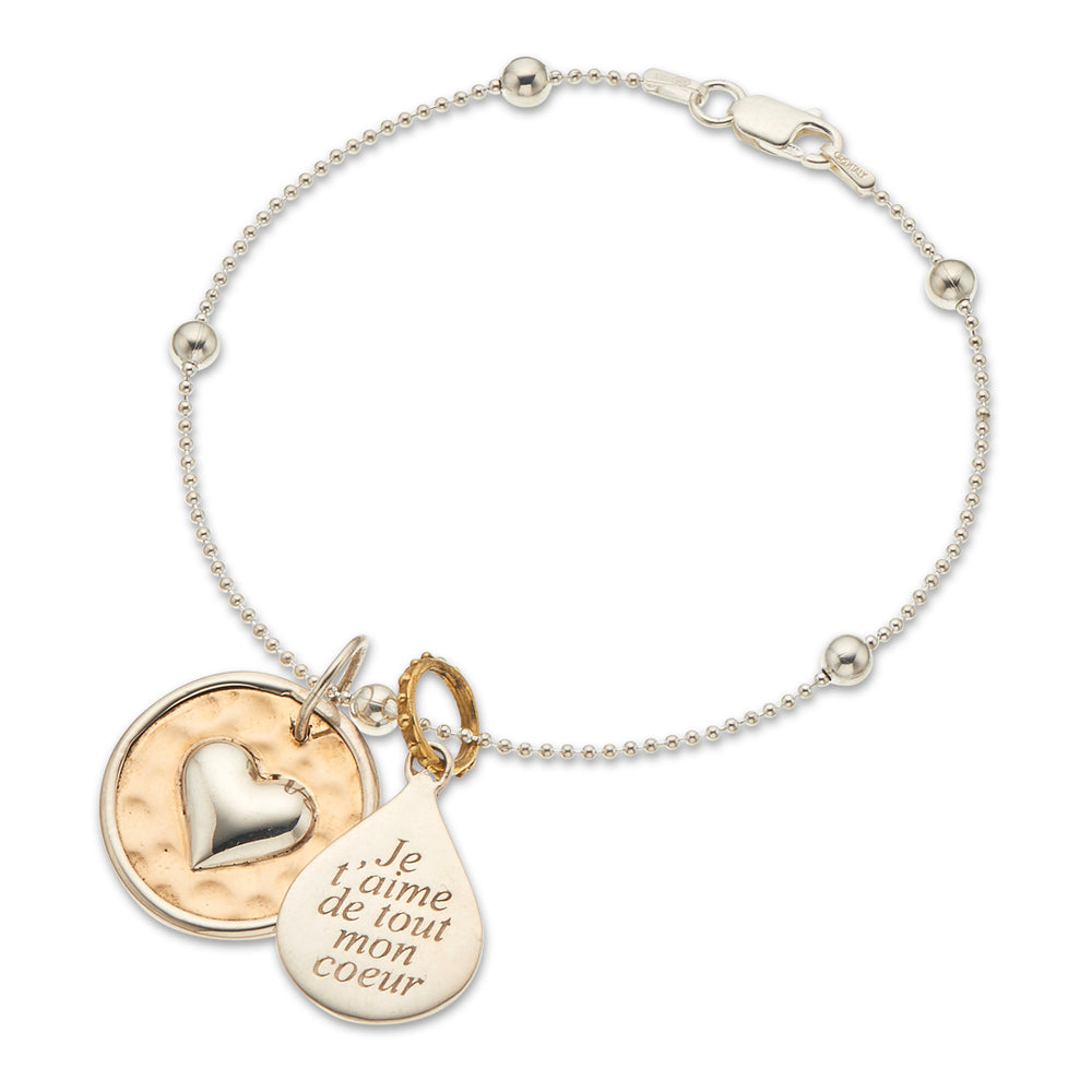 French With All My Heart Bracelet