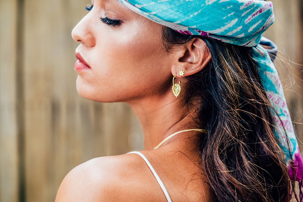 Gold Escape Small Hoop Earrings - The Spirit of Boho