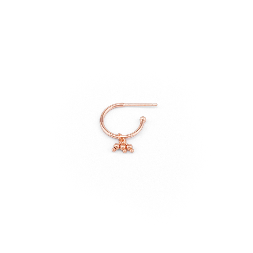 Rose Gold Blessing Hoop Earrings