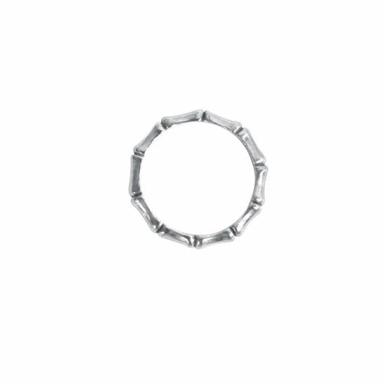 Silver Bamboo Ring - The Spirit of Boho