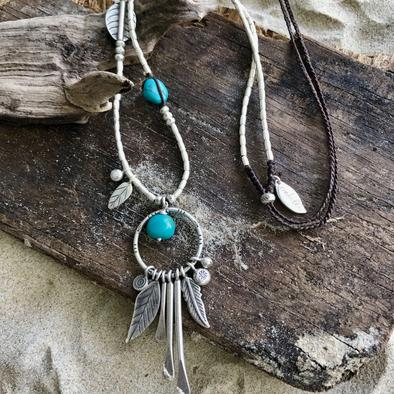 The Sea Dreamer with Turquoise Necklace - The Spirit of Boho
