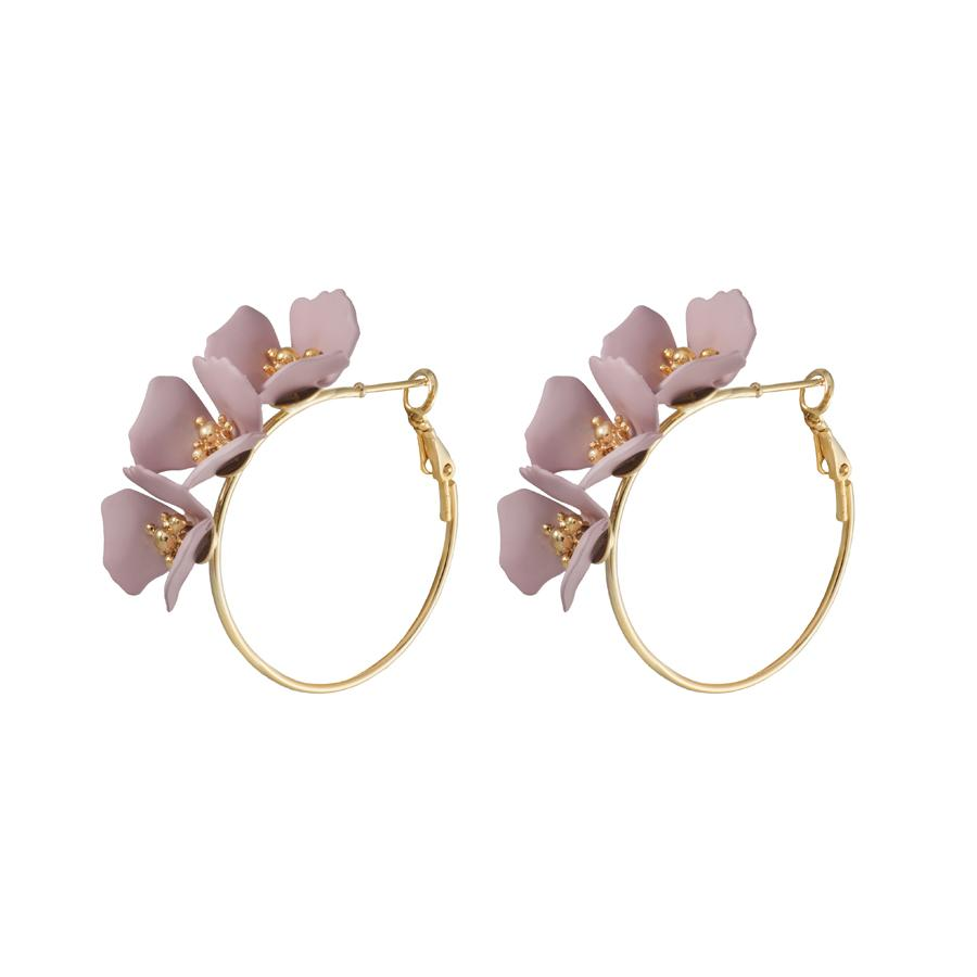 Meadow Hoop Mauve Earrings - The Spirit of Boho