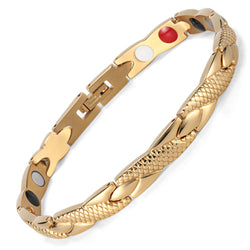 Fashionable Magnetic and Germanium Therapy Bracelet (OSB-692GFIR)