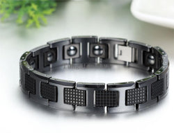 Black Germanium Health Magnetic Therapy Radiation Fatigue Bracelets - Man