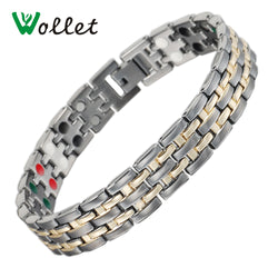 Grandma Gray Color Gold Healing Care Zinc Alloy Bracelet - ALB-0445B