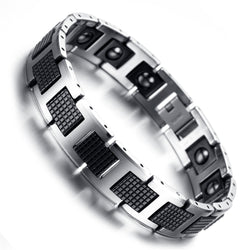 Magnetic Therapy Jewelry Black Power Tungsten Bracelets -KR7913