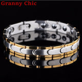 Stainless Steel Magnetic Bracelets Bangles (Couple)