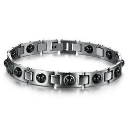 Hot Sales !! Fashion Jewelry Luxury Titanium Black Magnetic Bracelet (Uin- Sex)