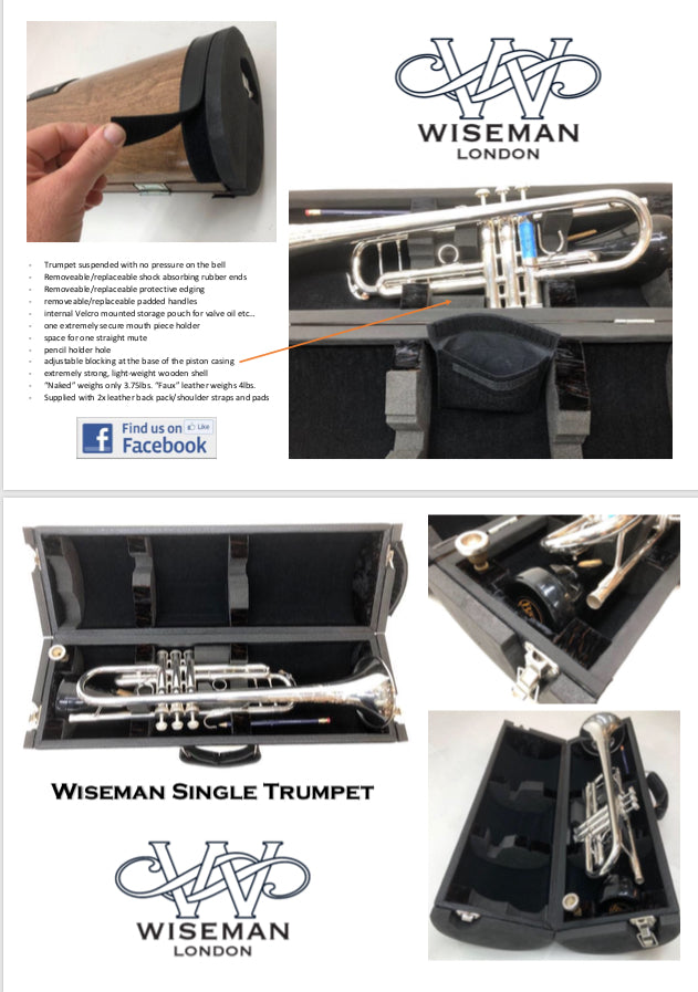 Wiseman Wood Single Trumpet Case ECT EXCLUSIVE!!!