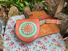 Mandala Leather Festival Belt - AnamasGypsy