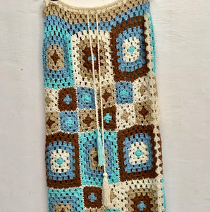 Gypsy  skirt hand crocheted - AnamasGypsy