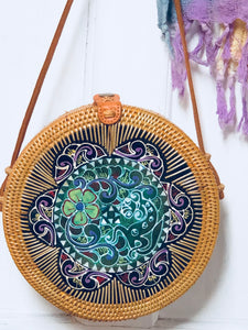 Rattan|Natural with Mother of Pearl Mosaic . - AnamasGypsy