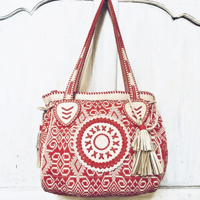 Anni  Red Ikat  Bag - AnamasGypsy