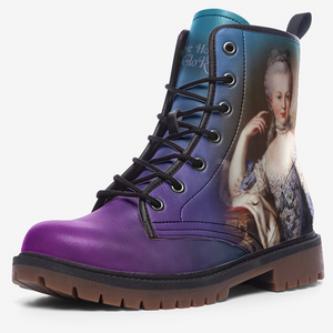 single view of marie antoinette magenta ombre combat boots