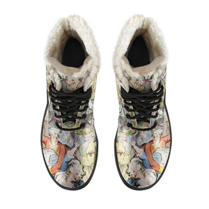 Top view of Having a Ball Faux fur lined winter boot