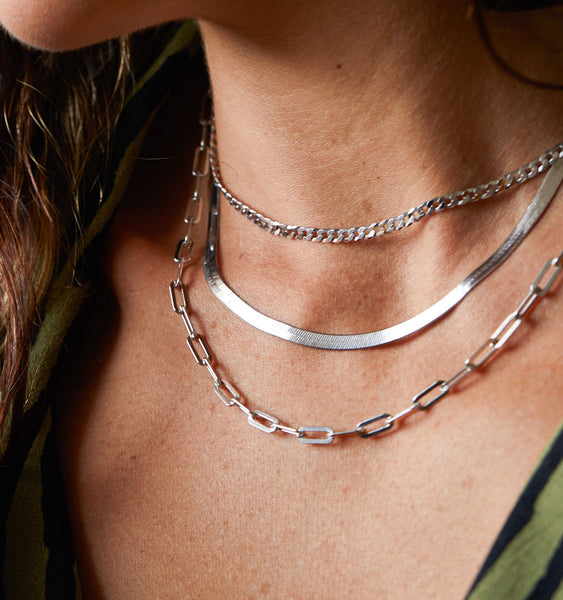 Silver Layering Necklaces