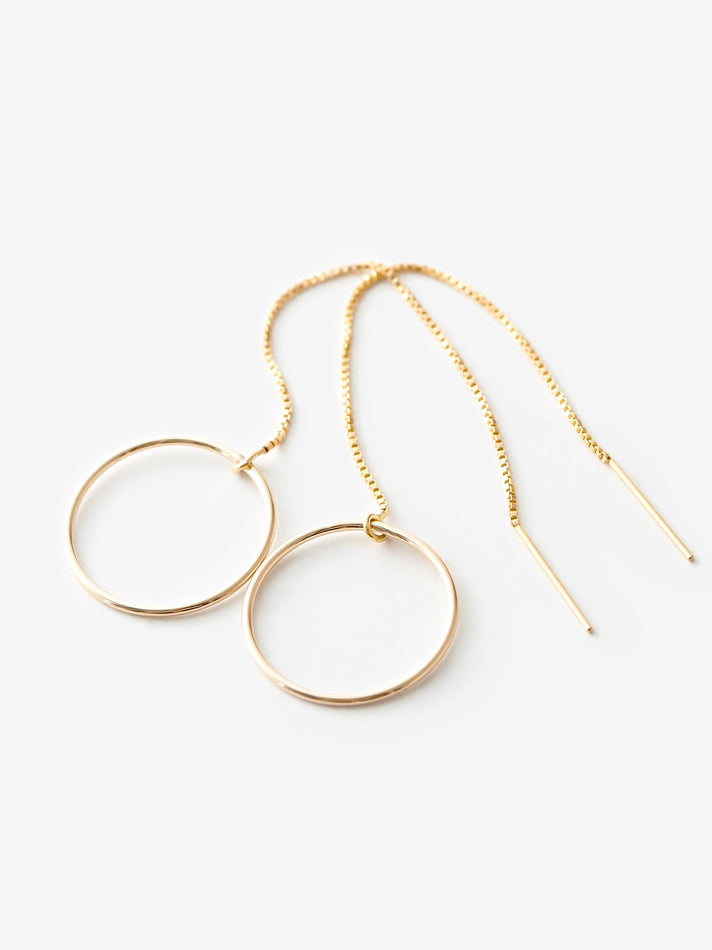Circle Threader Earrings