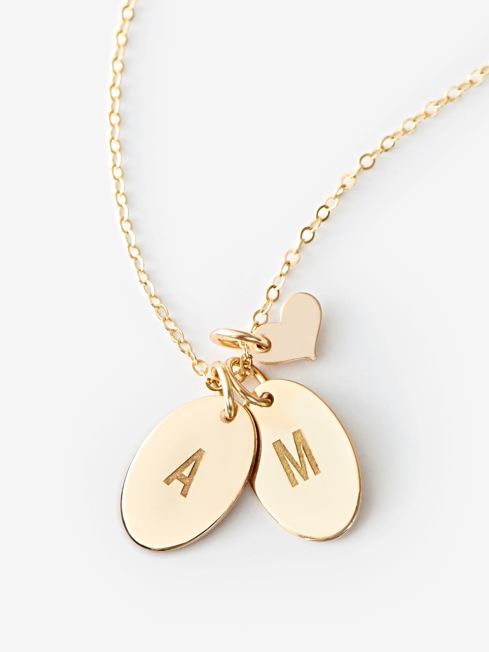 pendant rellery ovals products disk tag with gps heart mini double initial necklace