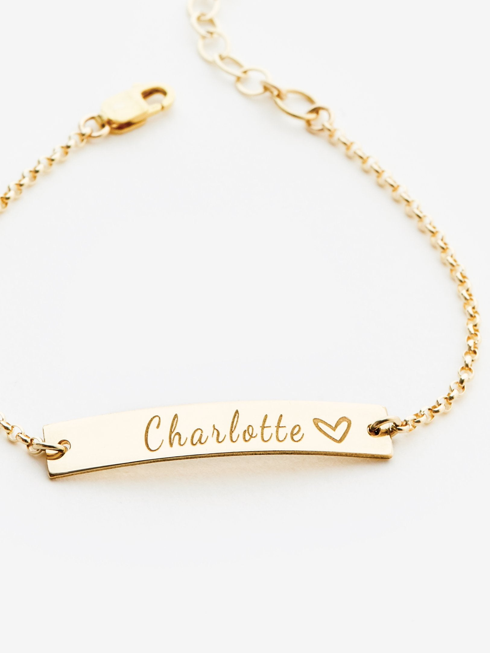 Small Personalized Bar Bracelet