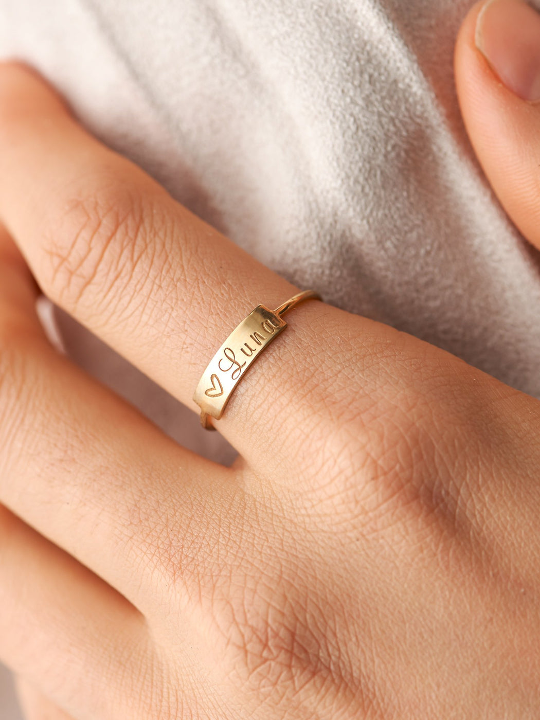Small Personalized Name Ring