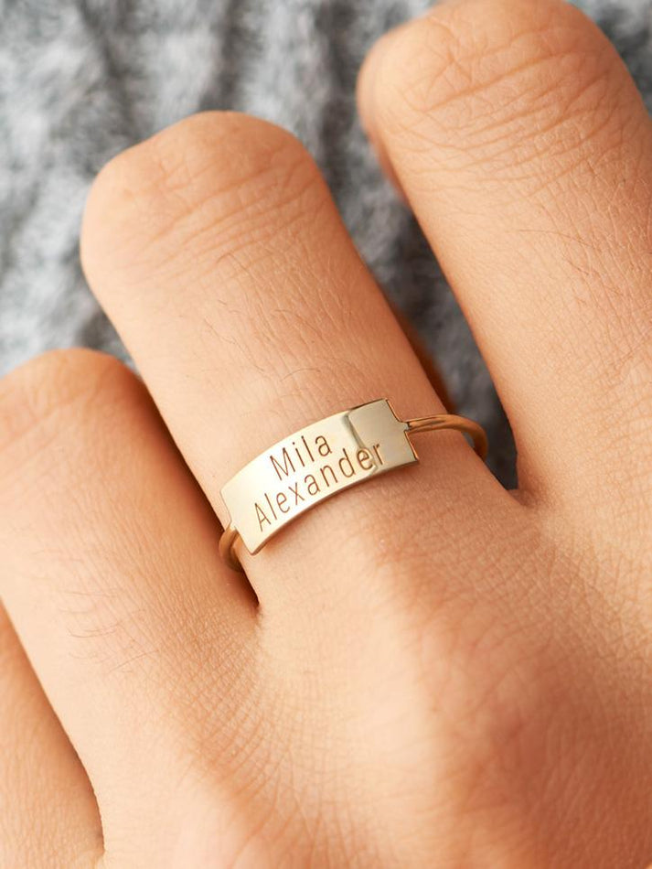 Two Line Personalized Ring