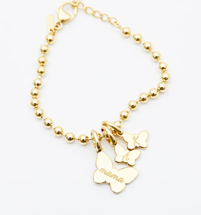 Engraved Butterfly Bracelet