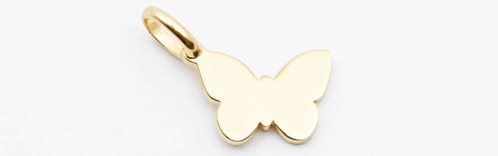 Engraved Butterfly Charm