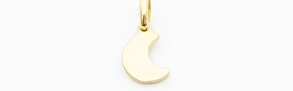Small Moon Initial Charm
