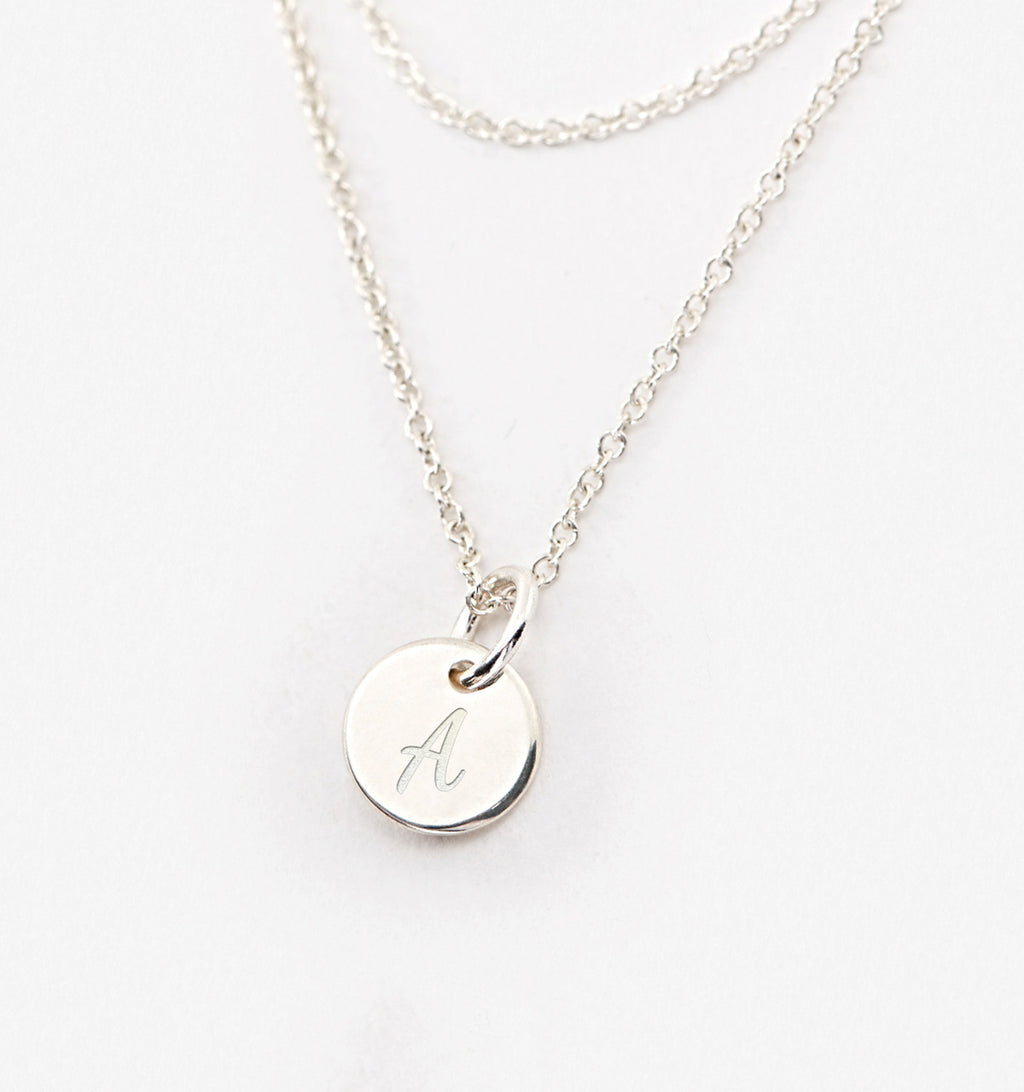 Mini Disk Wrap Necklace