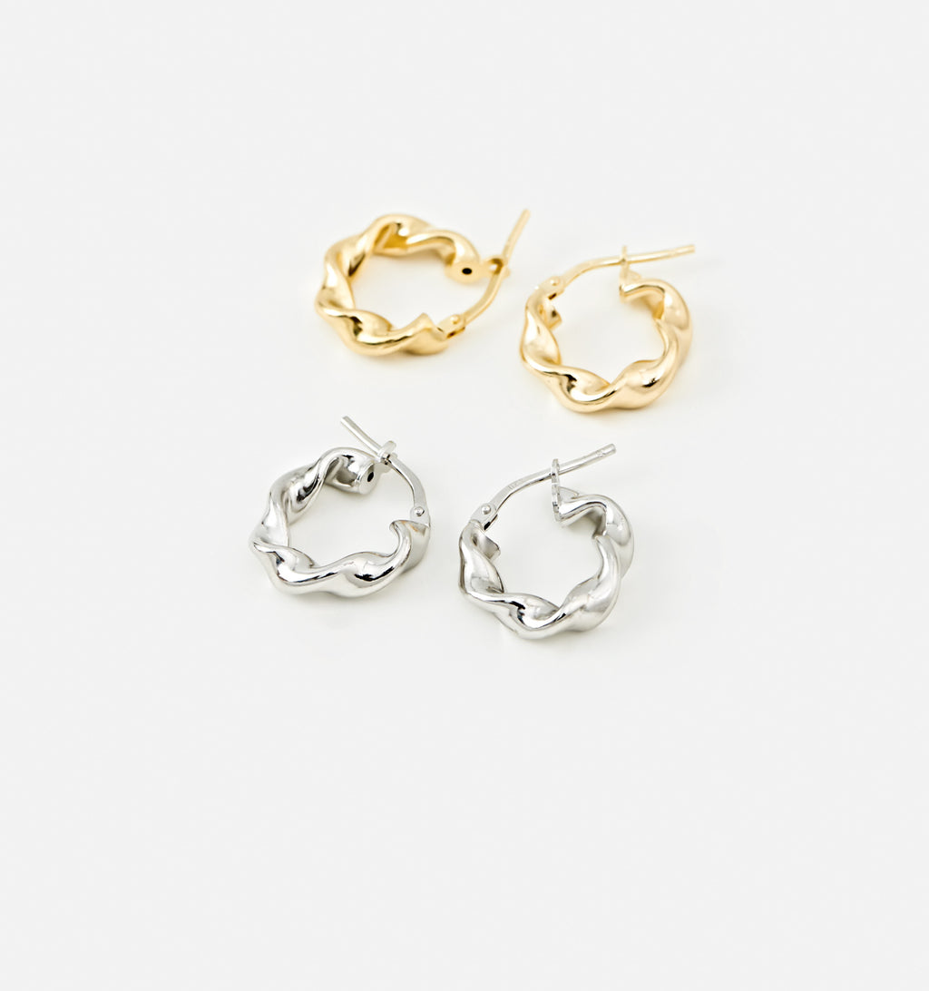 Rounds Twist Hoops - Small