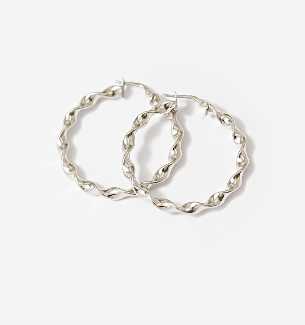 Rounds Twist Hoops - Medium