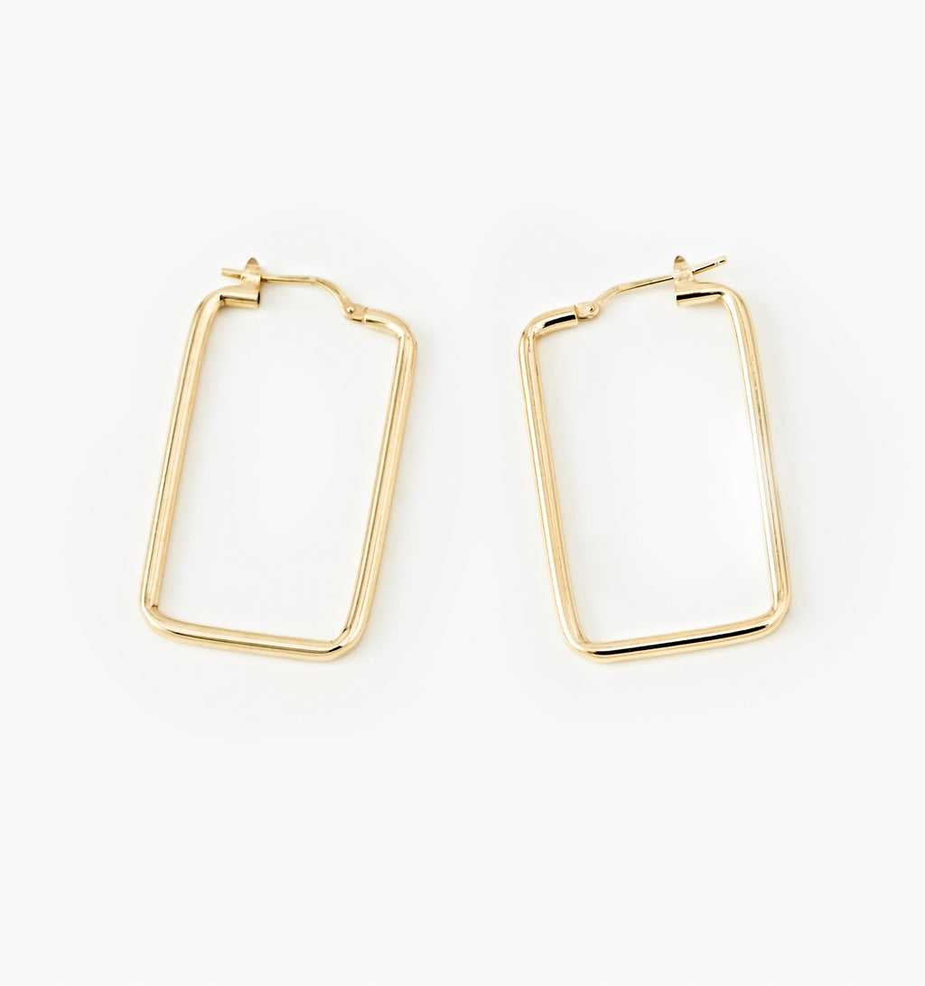 Rectangle Hoops - Medium