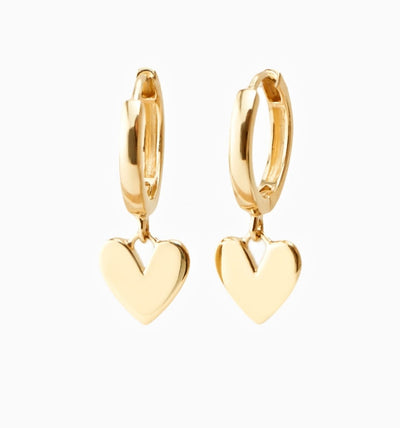 Heart Huggie Earrings