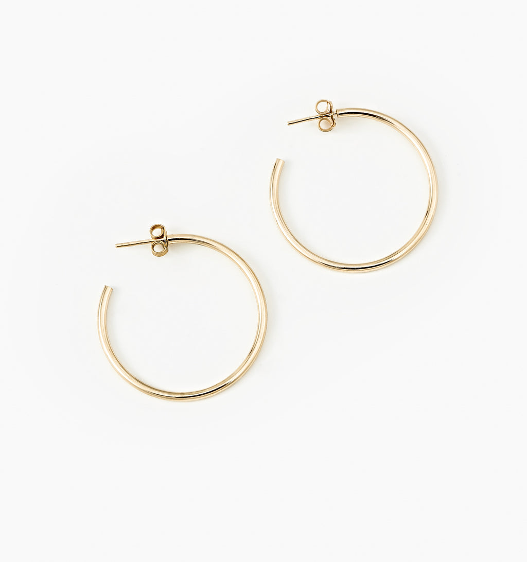 Thin Hoops - Medium