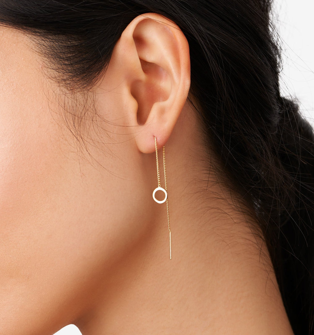 Open Circle Threader Earrings