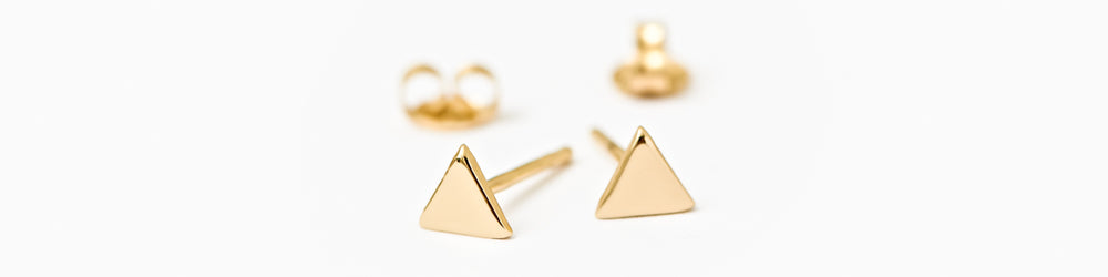 Mini Triangle Stud Earrings