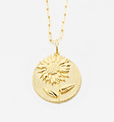 Bold Sunflower Necklace