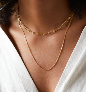 Bold Duo One Clasp Layered Necklaces