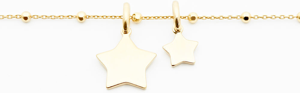 Engraved Star Necklace